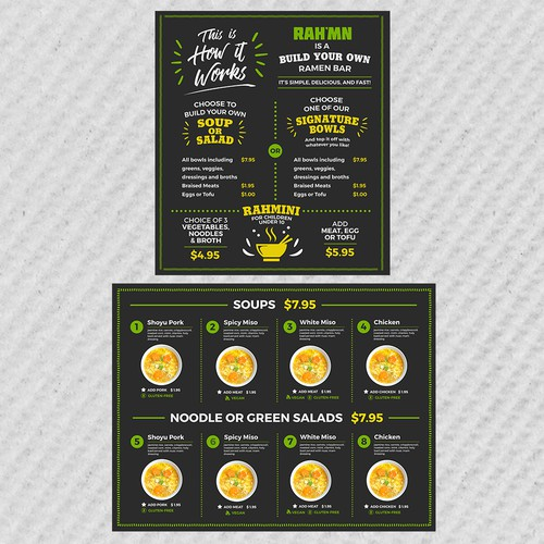 Menu Board Design for RAH'MN