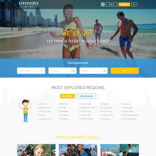 Website design for Travelling Protal
