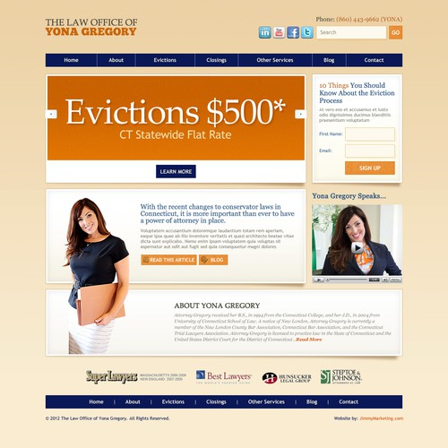 New website design wanted for The Law Office of Yona Gregory