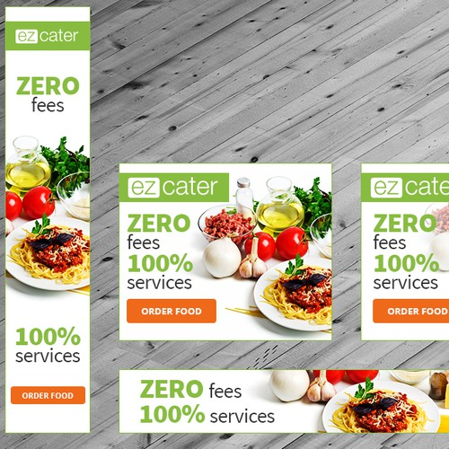 Create fresh banner ads for web marketplace ezCater.com
