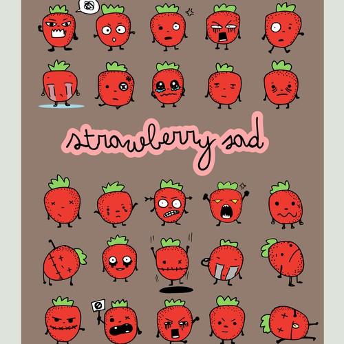 Strawberry sad