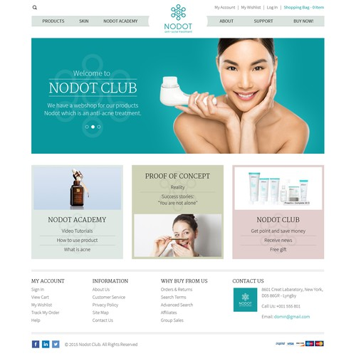 Landing Page Design For Nodot Club