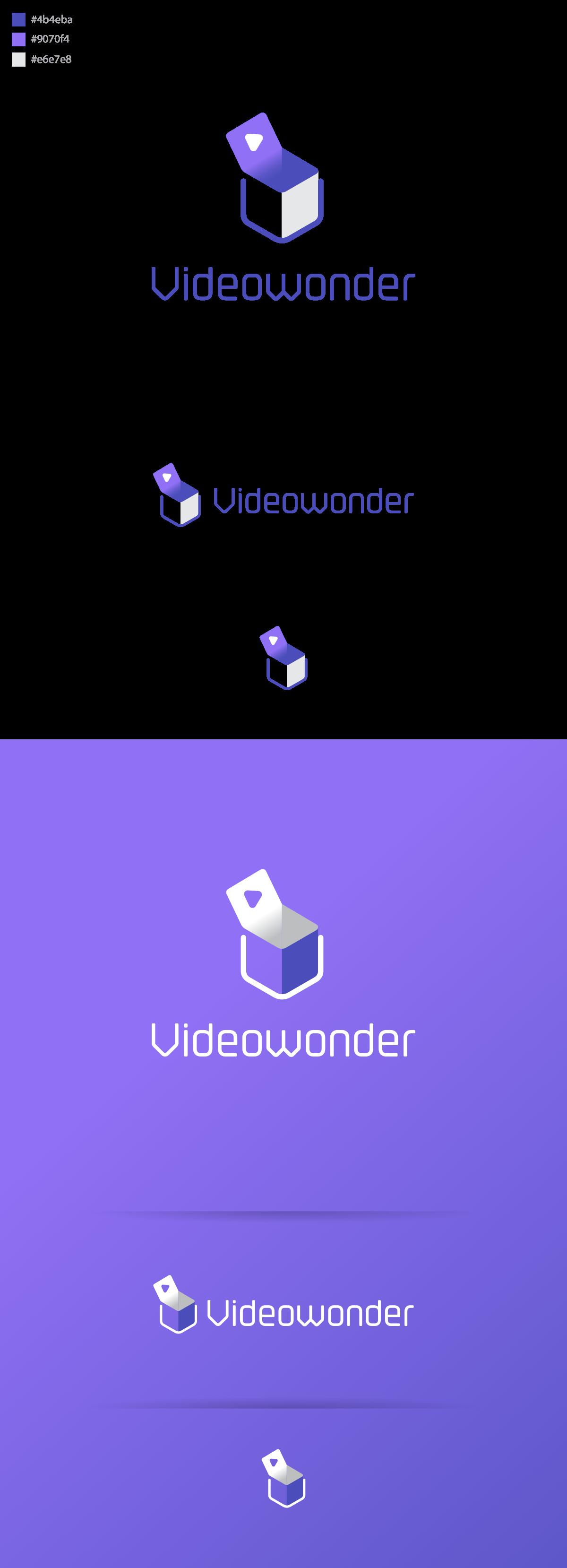 Videowonder Logo and Business Cards Design