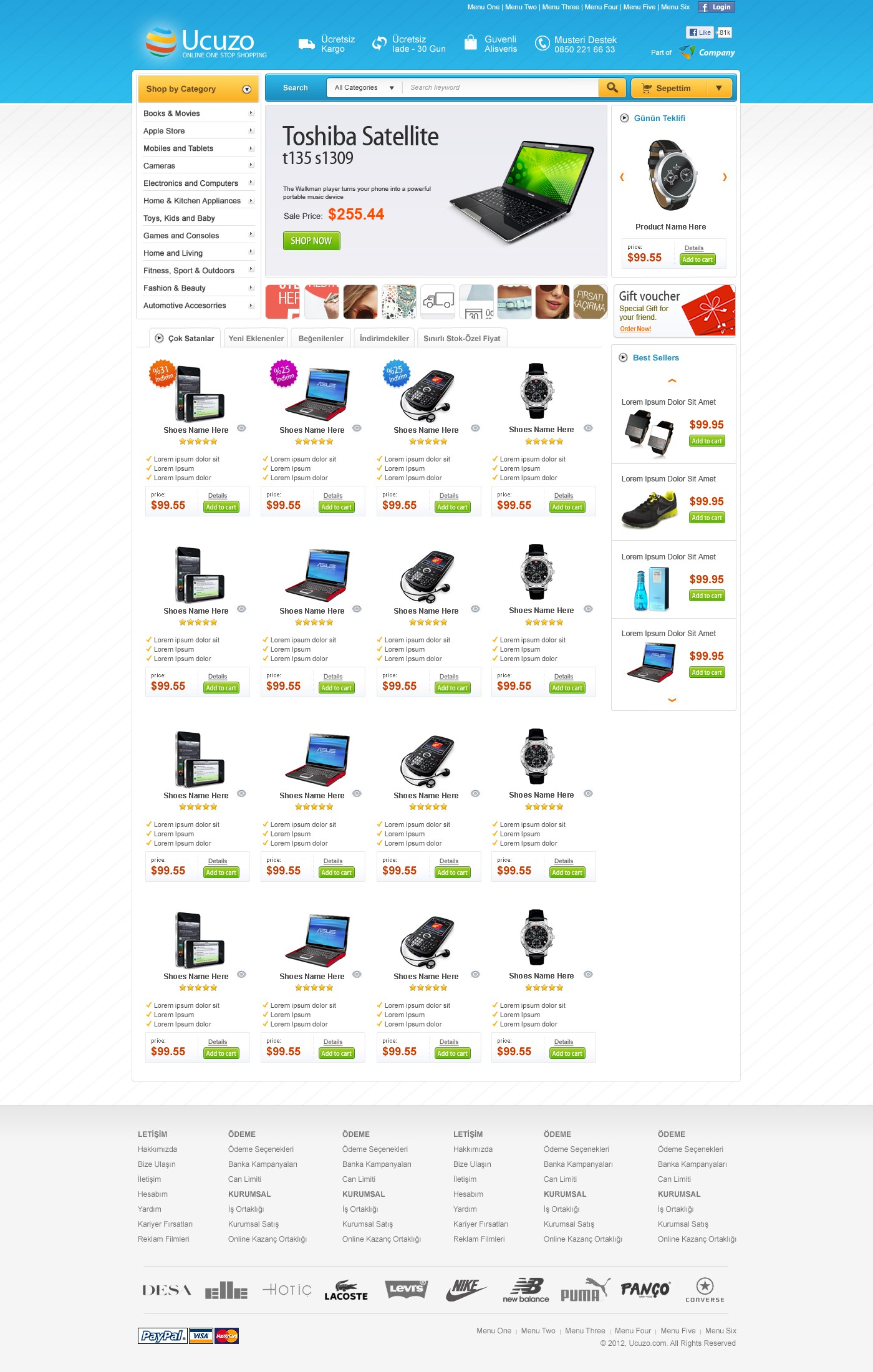 Create a new eCommerce design for ucuzo
