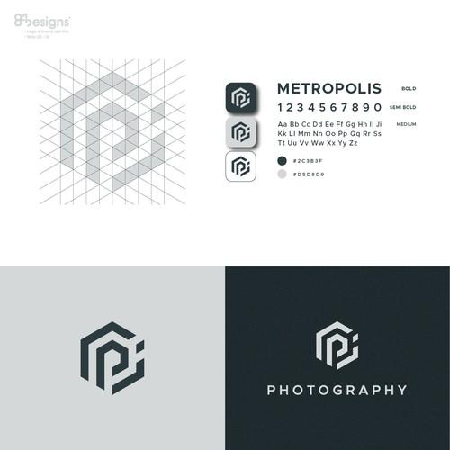 PJ monogram design concept