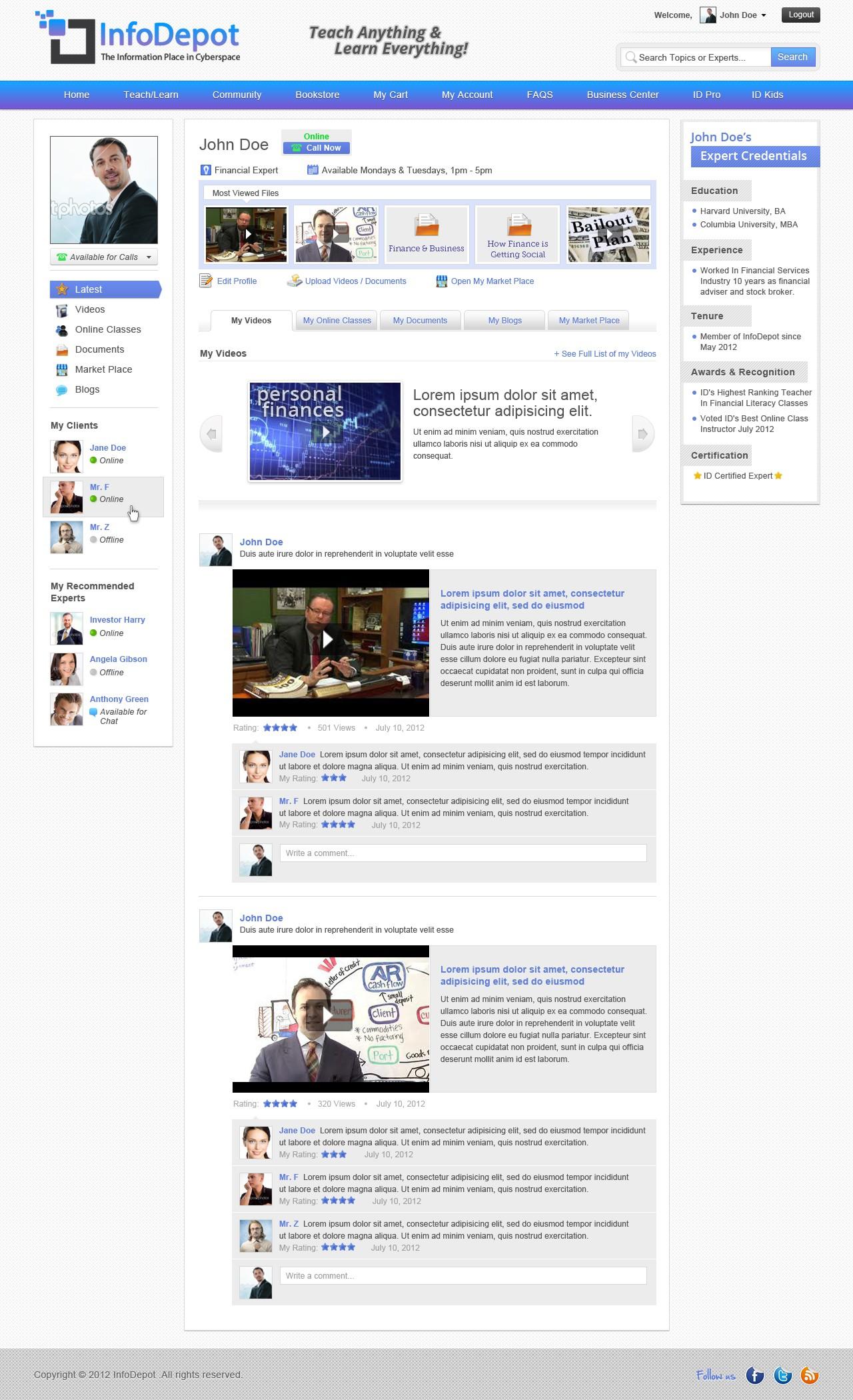 InfoDepot.com needs a new website design