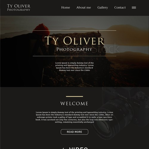 Ty Oliver Photography web page