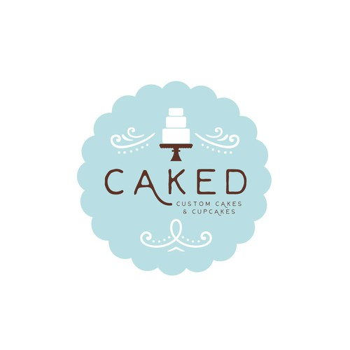sleek logo for custom cake shop