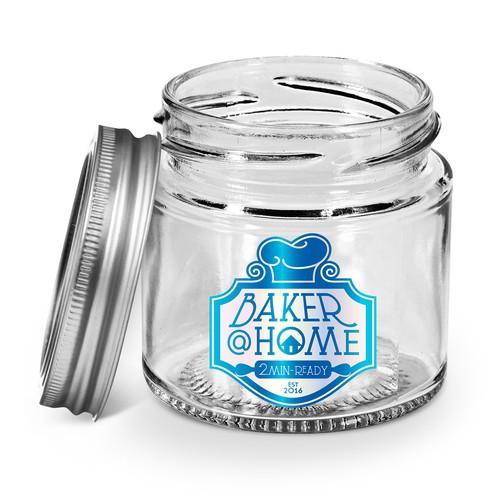 baker@home Jar Cakes Logo/Label Design