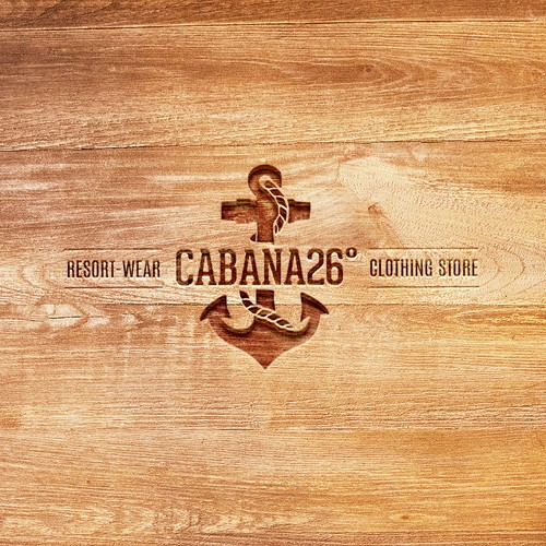 Logo concept for Cabana 26º, a resort-wear clothing boutique in South Florida.
