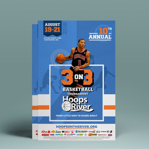 Poster concept of basketball tournament.