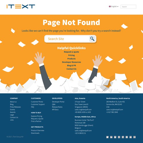 Whimsical 404 Page Not Found Website Page