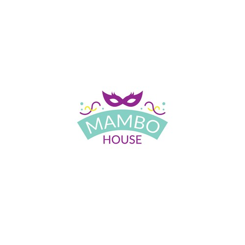 Logo concept for a Mardi Gras based Airbnb acommodation