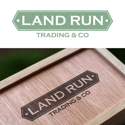 Logo for a new classic styled brand of canvas and leather oudoor and everyday products - Land Run Trading Co.