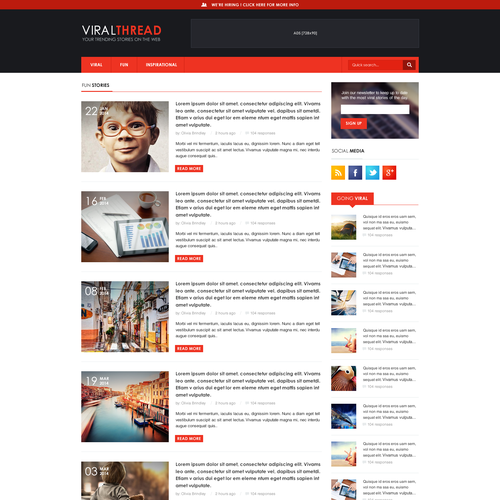 Build a clean and great website for ViralThread.com
