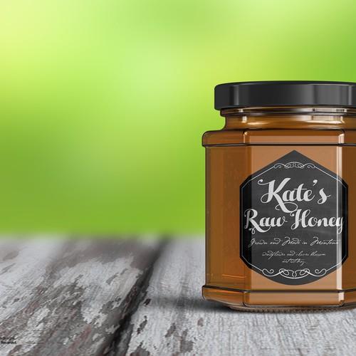 Kates raw Honey