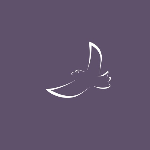 Minimalist Logo with flying eagle for Psychotherapy Practice