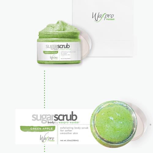 sugar scrub label design