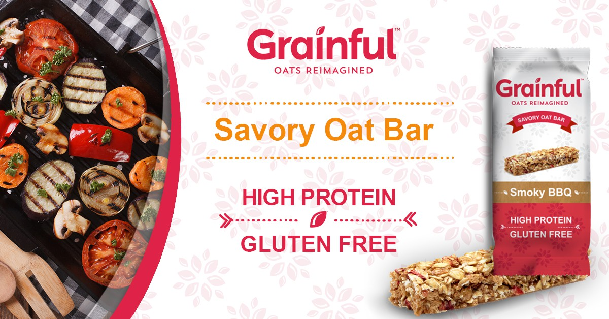 Create an eye-catching Facebook ad for a new Grainful product line