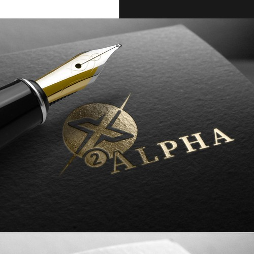 X to Alpha logo