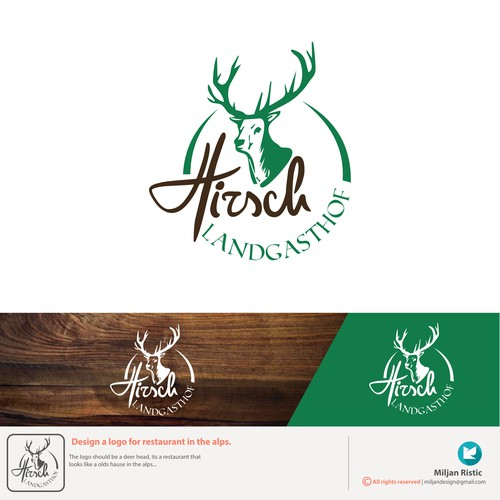 Logo design project for restaurant in the Alps.