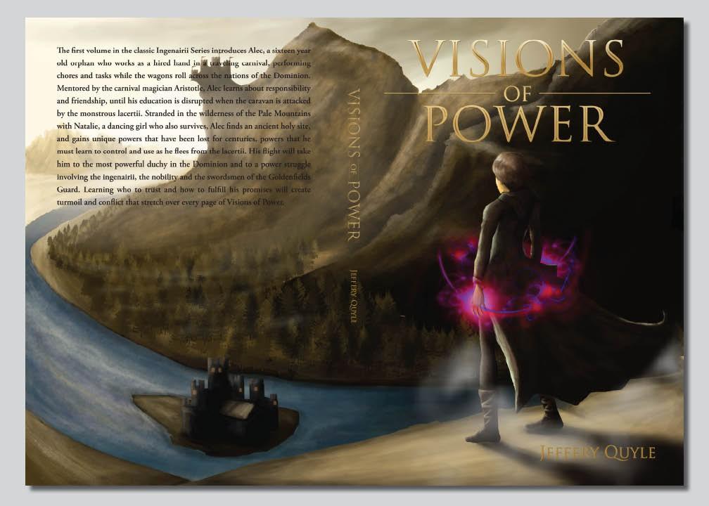 Design a book cover for a fantasy novel