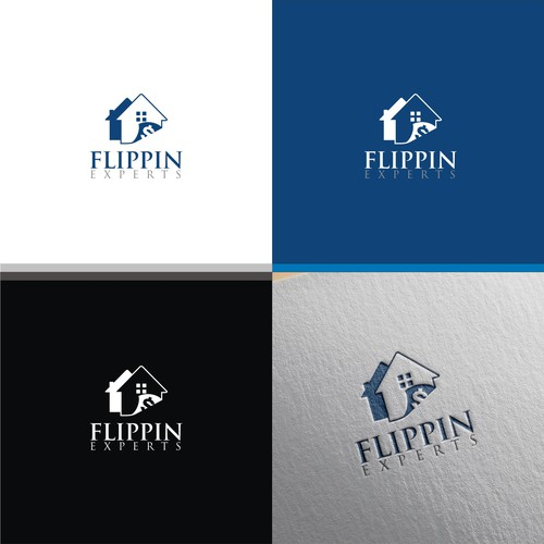 logo concept for flippin experts