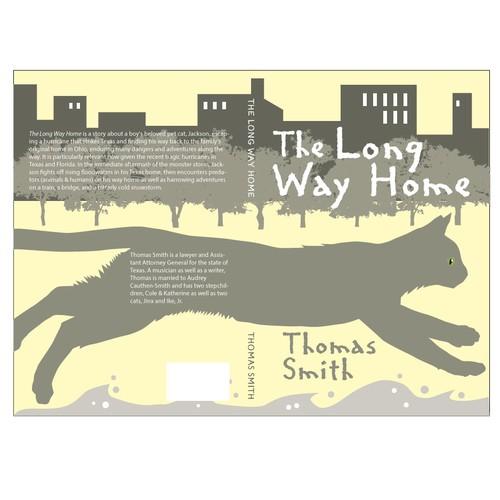 Modern book cover design: Cat Adventure