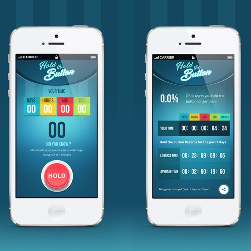 Hold the Button Mobile App Design