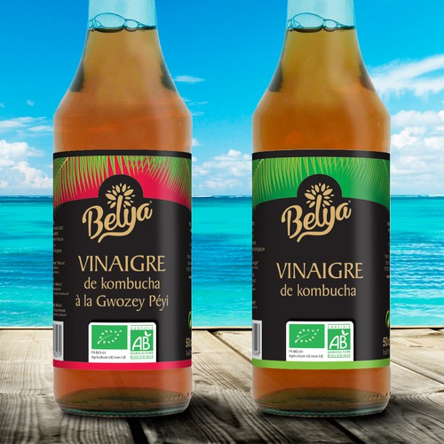 Elegant Labeldesign Caribbean Vinegar