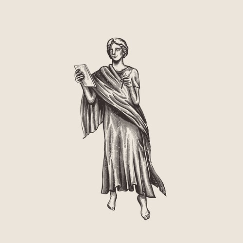 Greek Goddess Calliope Illustration