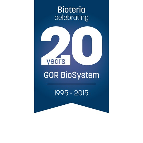 Create a anniversary emblem for the innovation company in biotechnology - Bioteria!