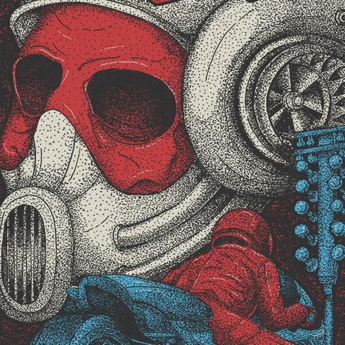 drag racing t-shirt illustration