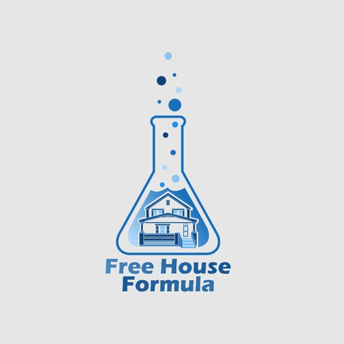 'Mad scientist formula' and real estate housing logo needed