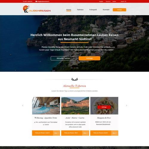 Design for a travel/bus company