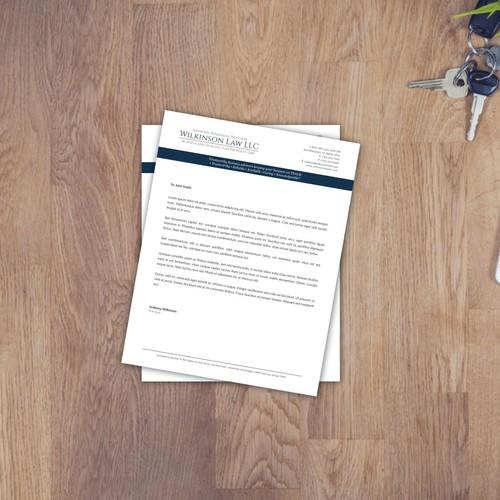 Wilkinson Law LLC letterhead design