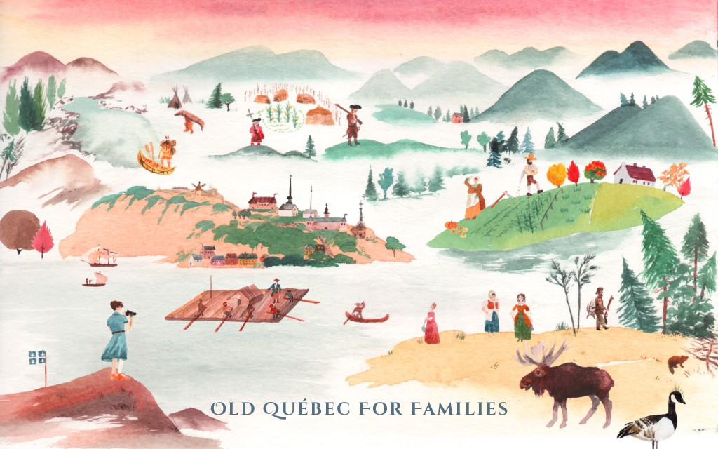 Epic illustration for a Canadian guided tour based on family trees