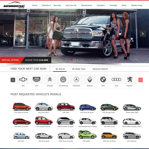 New website for AutomontrealGroup  - Automotive Company