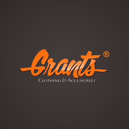Create a winning log design for Grants Clothing and Accessories