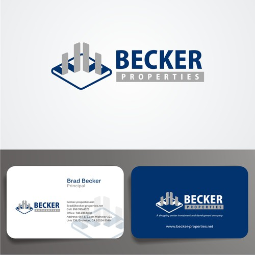 Logo and Business card for Becker Properties