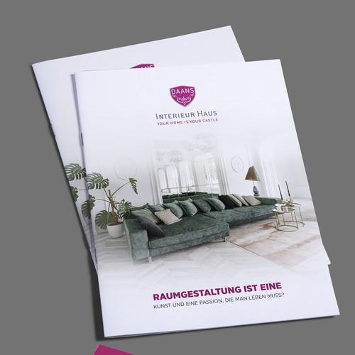 Erstelle uns eine mega Präsentations Broschüre :Interieur Design