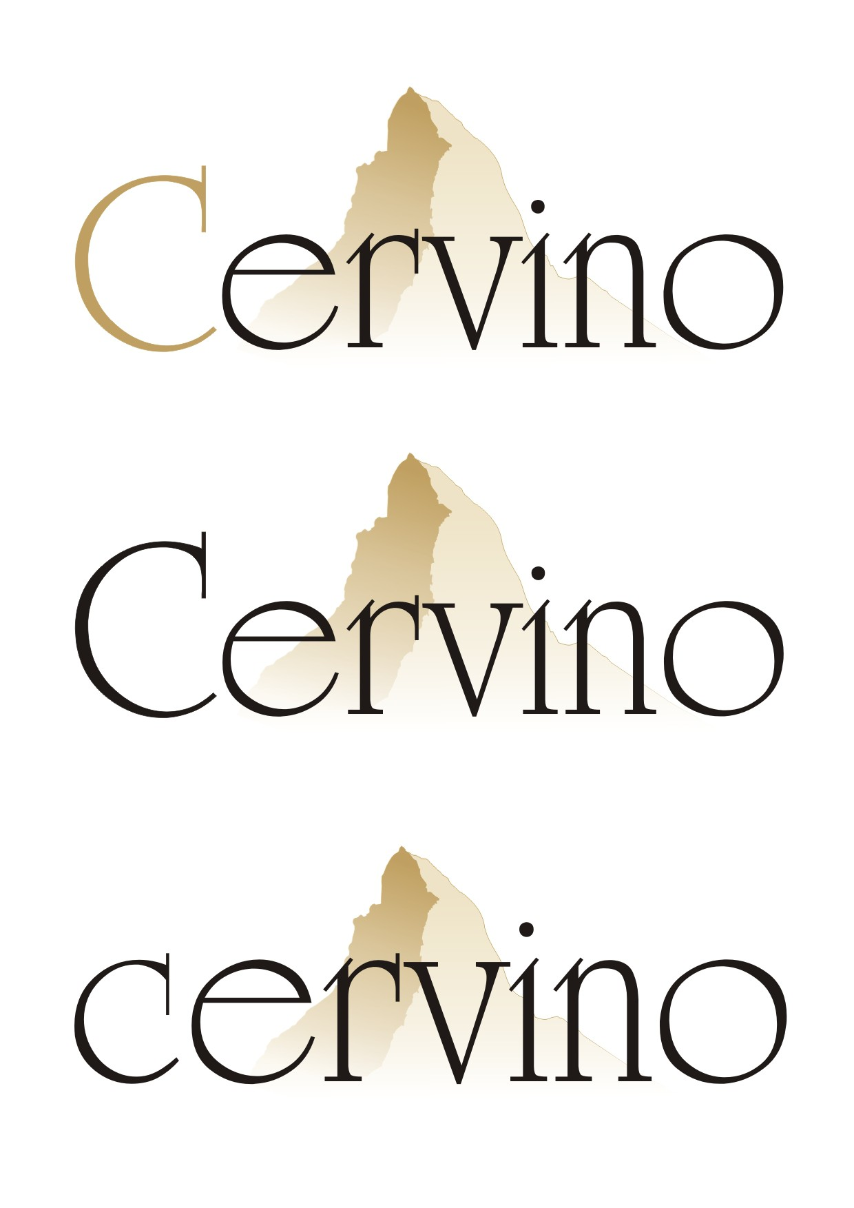 Create the Logo and packaging design for Cervino