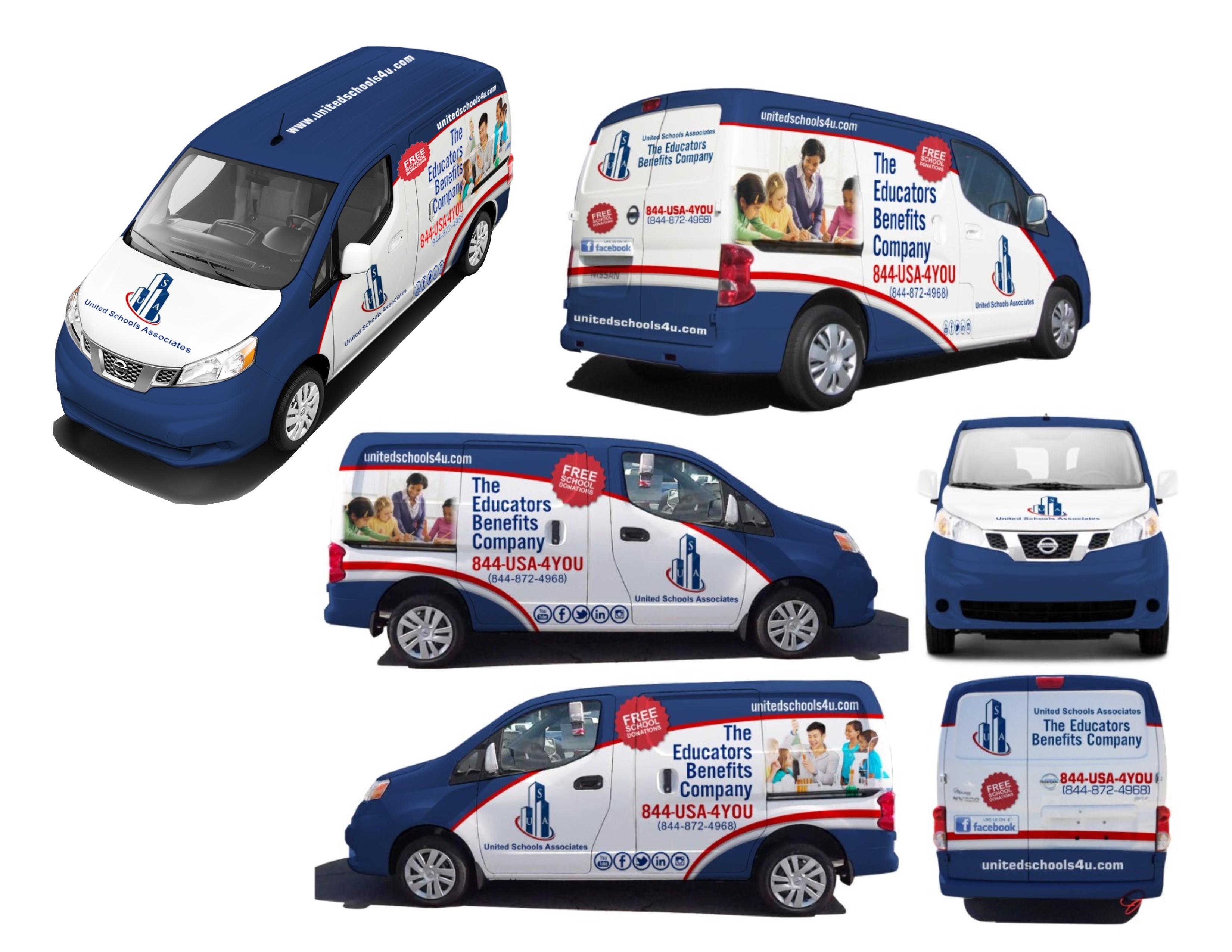 Nissan NV200 Van Wrap contest For United Schools Associates, (USA) Inc.