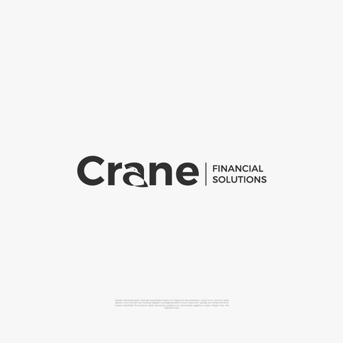 Crane Financial Solutions Logo Design