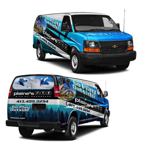van wrap for outdoor sport company
