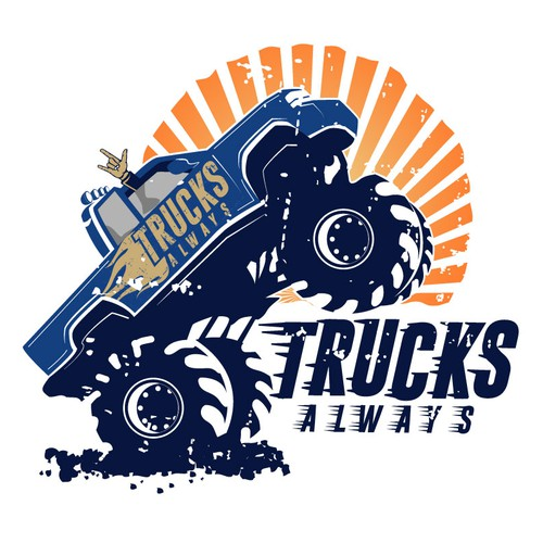 Vintage truck logo
