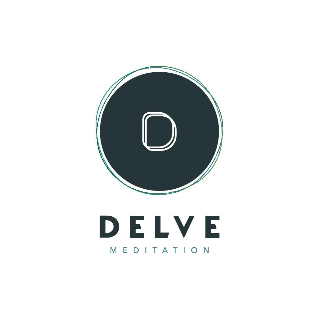 Design  Delve Meditation's cool, modern meditation logo and brand identity pack