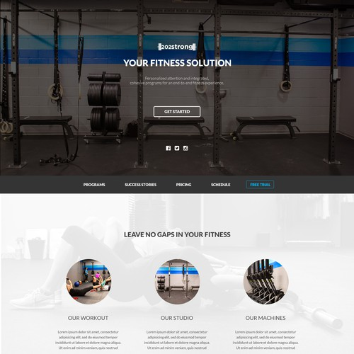 One page website for Gym