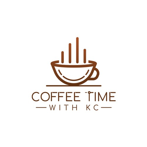 'Coffee Time With KC' Logo Design Concept
