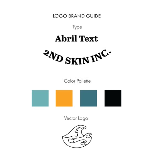 Vibrant/Simple Concept Brand Guide for a Wetsuit Brand